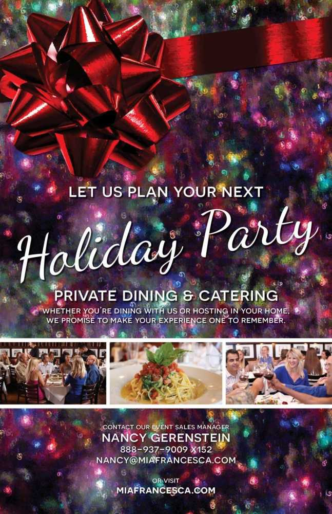 Come celebrate the Holiday's with us, here at Francesca's on 95th!
